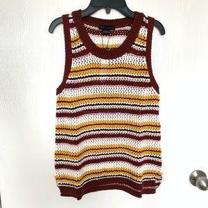 Sanctuary sleeveless cotton sweater